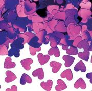 Sparkle Hearts shaped Birthday Party Table Confetti 14g